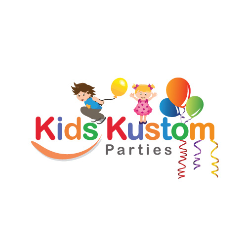 Playful Modern Logo Design For Kids Kustom Parties By