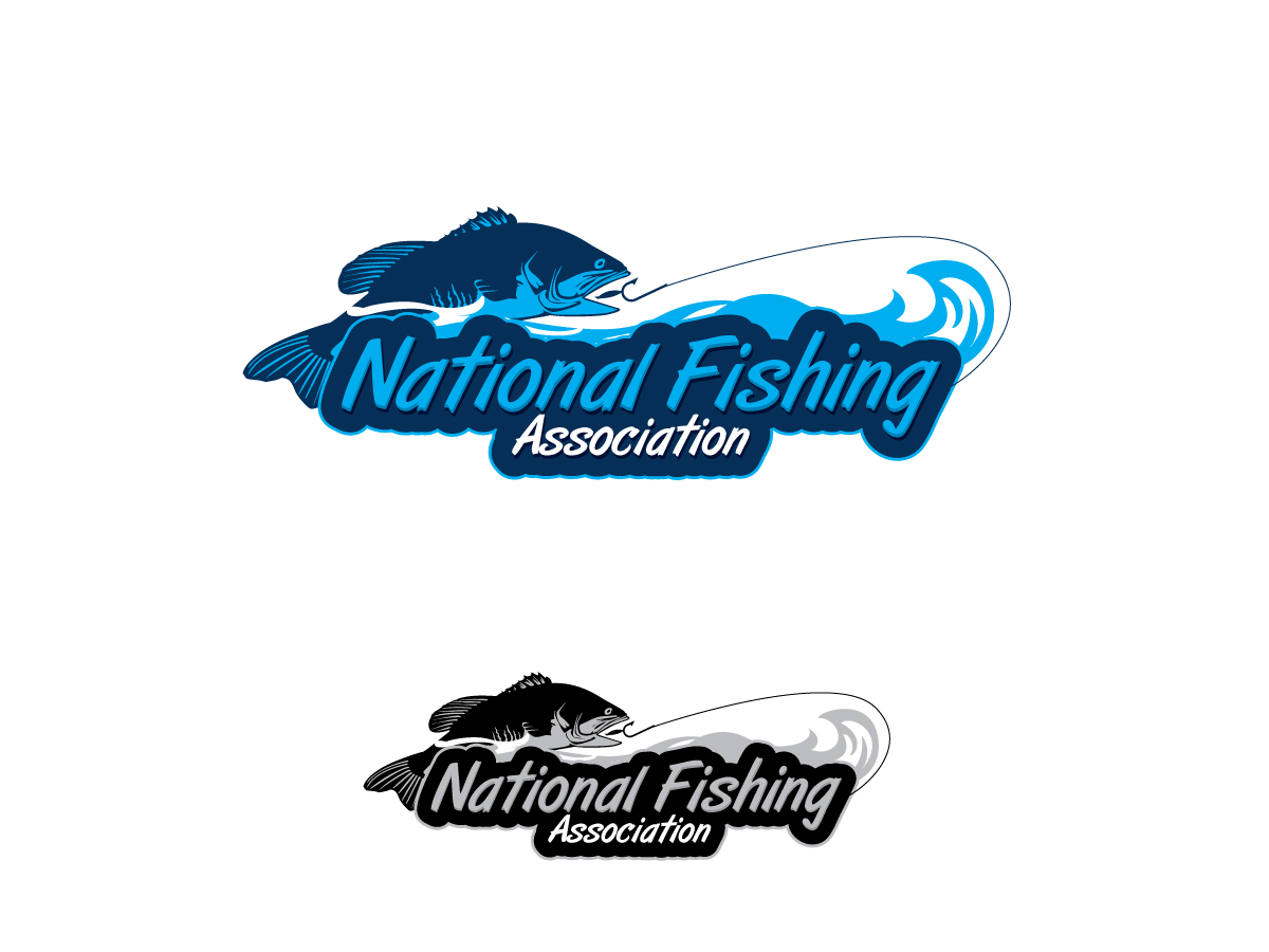 l gant amusant design de logo for national fishing
