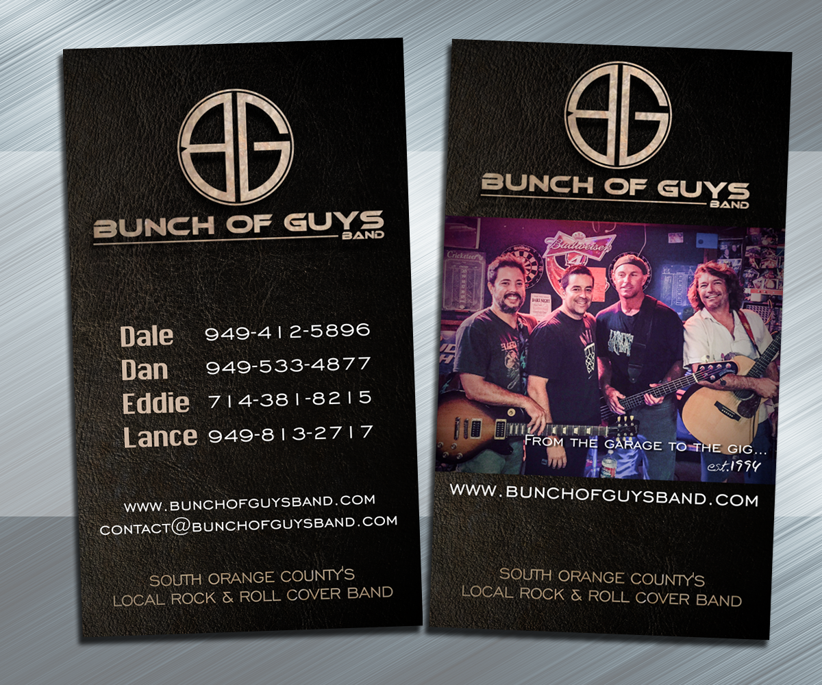 Unique rock band business cards pictures business card for Band business card ideas