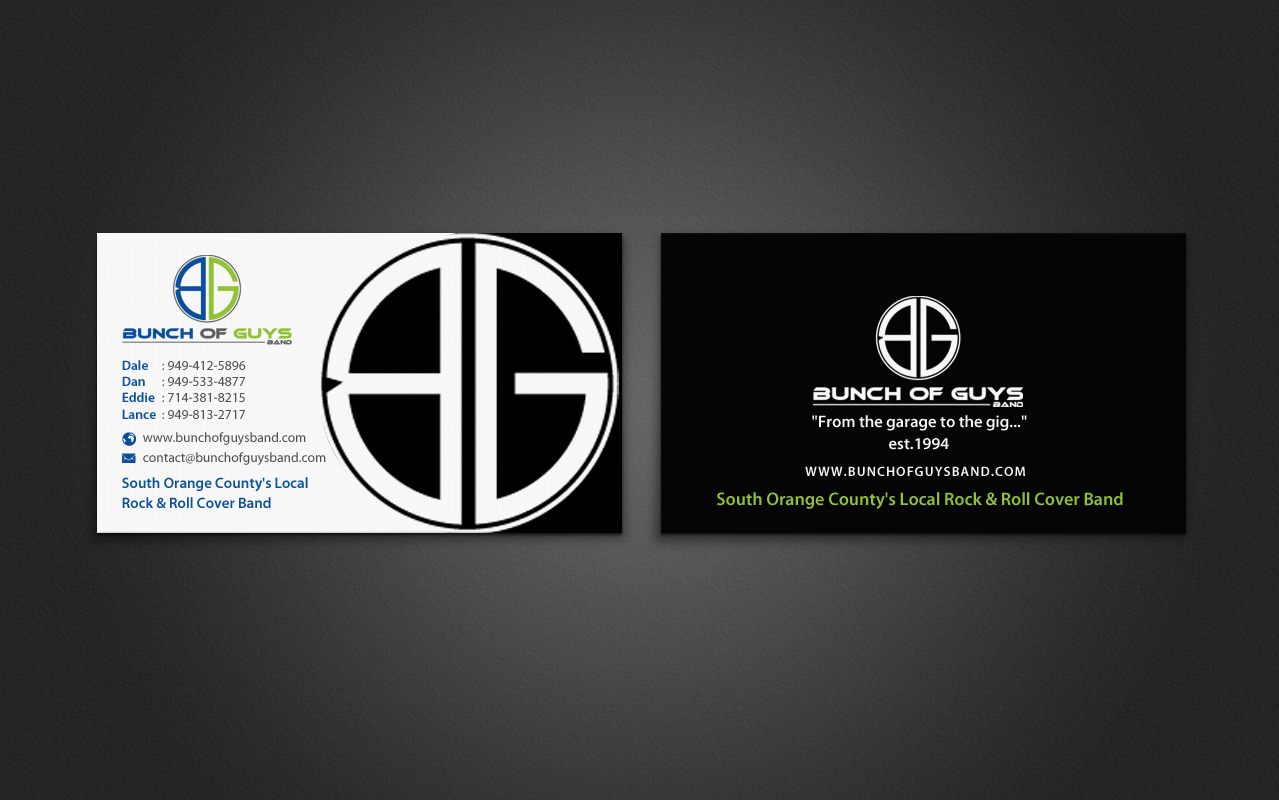 band business cards - Band Business Cards