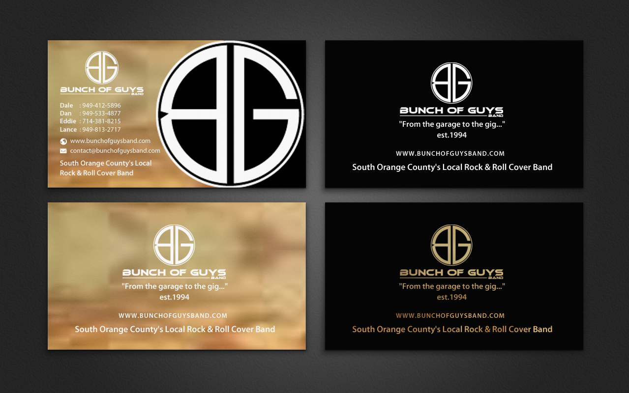 Band business card ideas arts arts for Band business card ideas