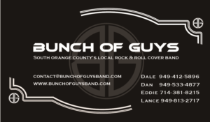 bunch of guys band business card business card design by miri art - Band Business Cards