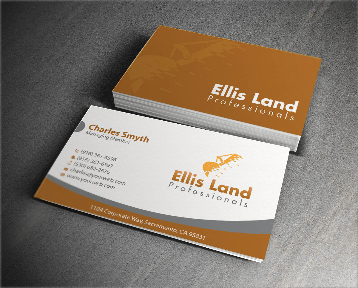 Bold playful business card design for ellis land pro by bold playful business card design for ellis land pro in united states design 7080122 reheart Image collections