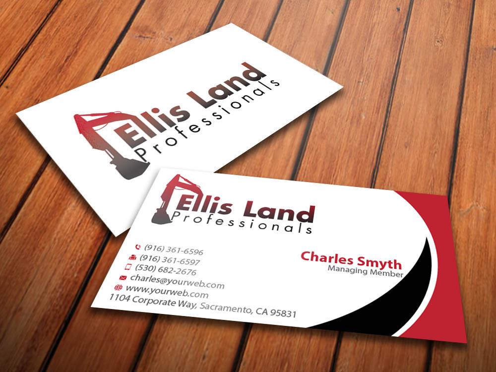 Bold playful business card design for ellis land pro by bold playful business card design for ellis land pro in united states design 7080136 reheart Images