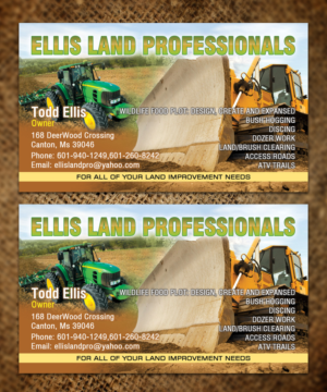 42 bold business card designs business card design project for business card design by sandaruwan for ellis land pro design 7198651 reheart Images