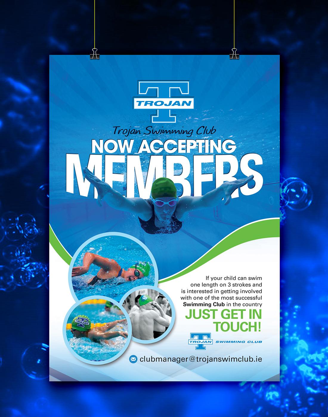 Poster design uk - Poster Design By Uk For Trojan Swimming Club Membership Poster Design 7052662