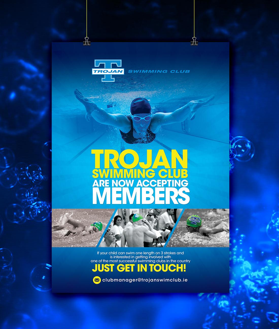 Poster design uk - Poster Design By Uk For Trojan Swimming Club Membership Poster Design 7052663