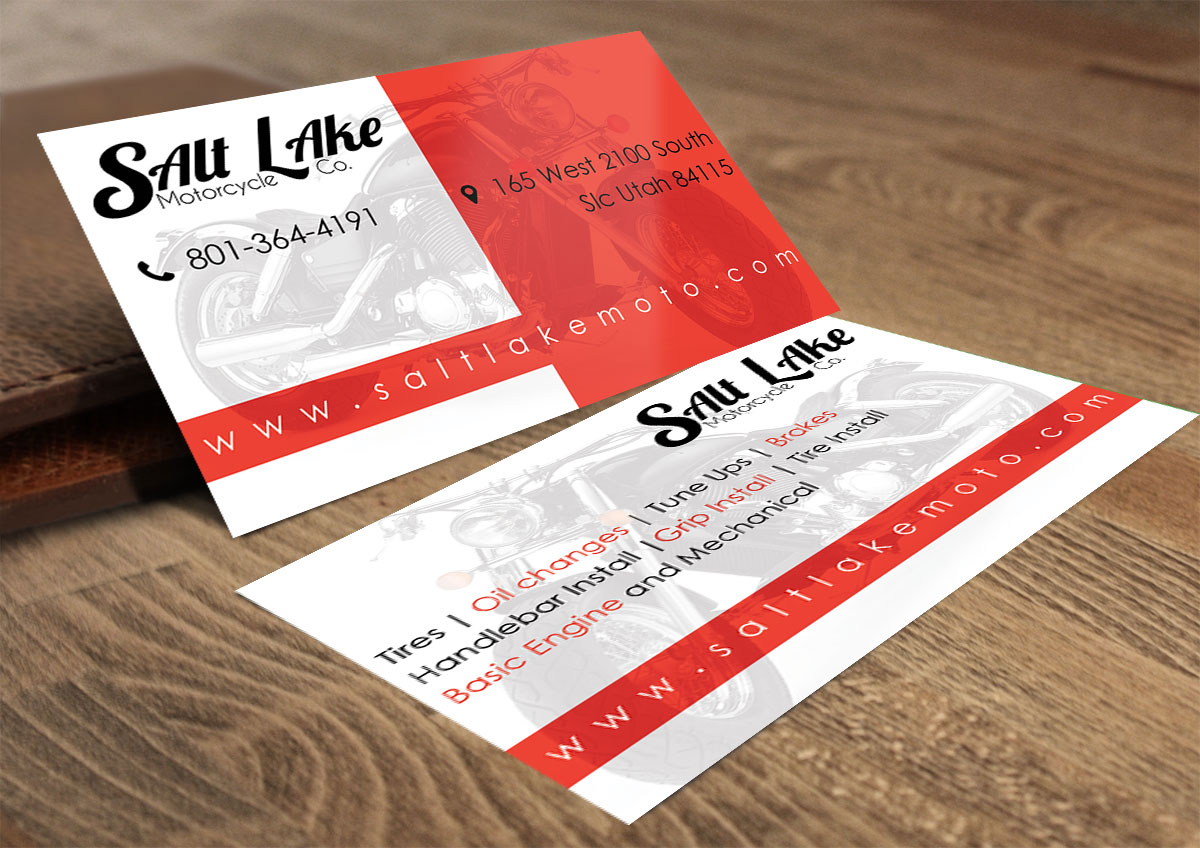 Bold, Serious Business Card Design for Salt Lake Motorcycle Co. by ...