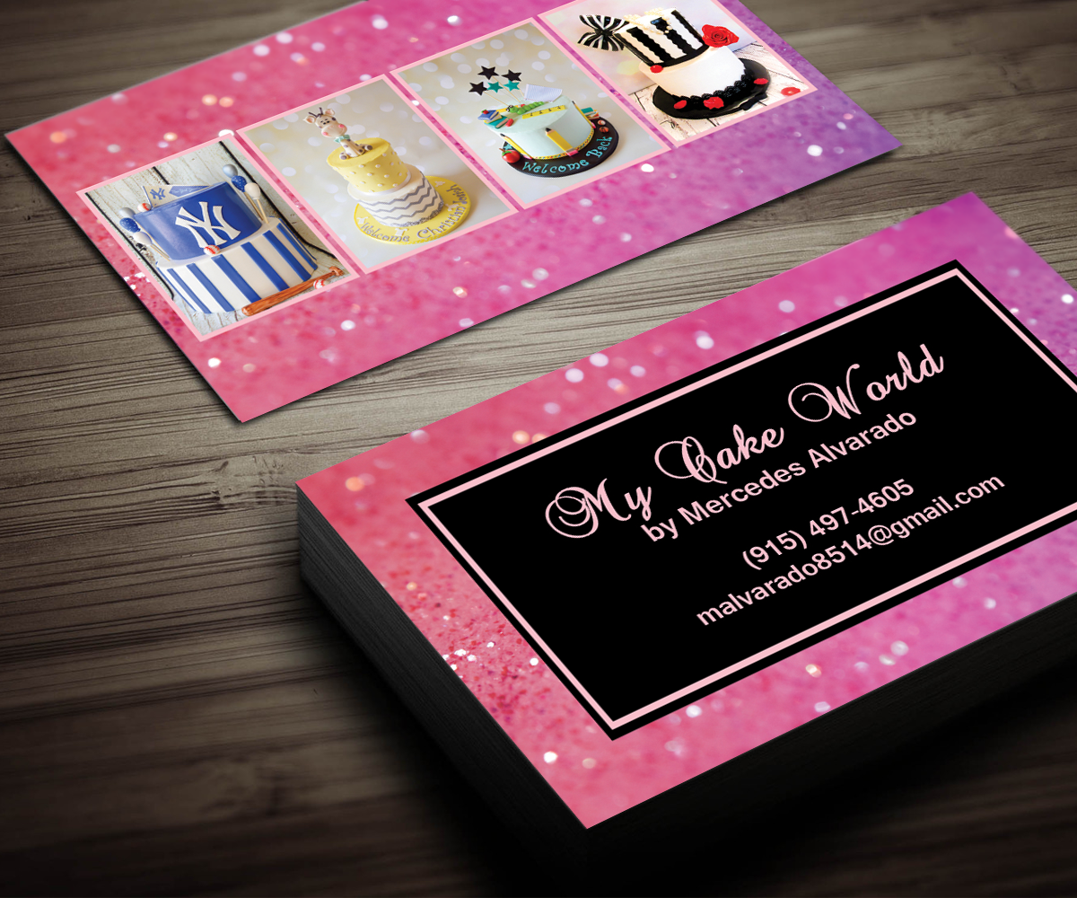 Business Card Design By Sanrell For My Cake World Contest