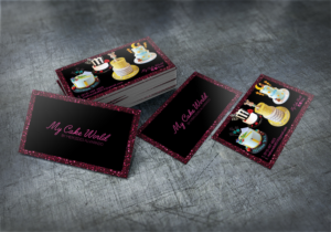 Cake business card designs 45 cake business cards to browse my cake world business card design contest business card design by studio4design reheart Images