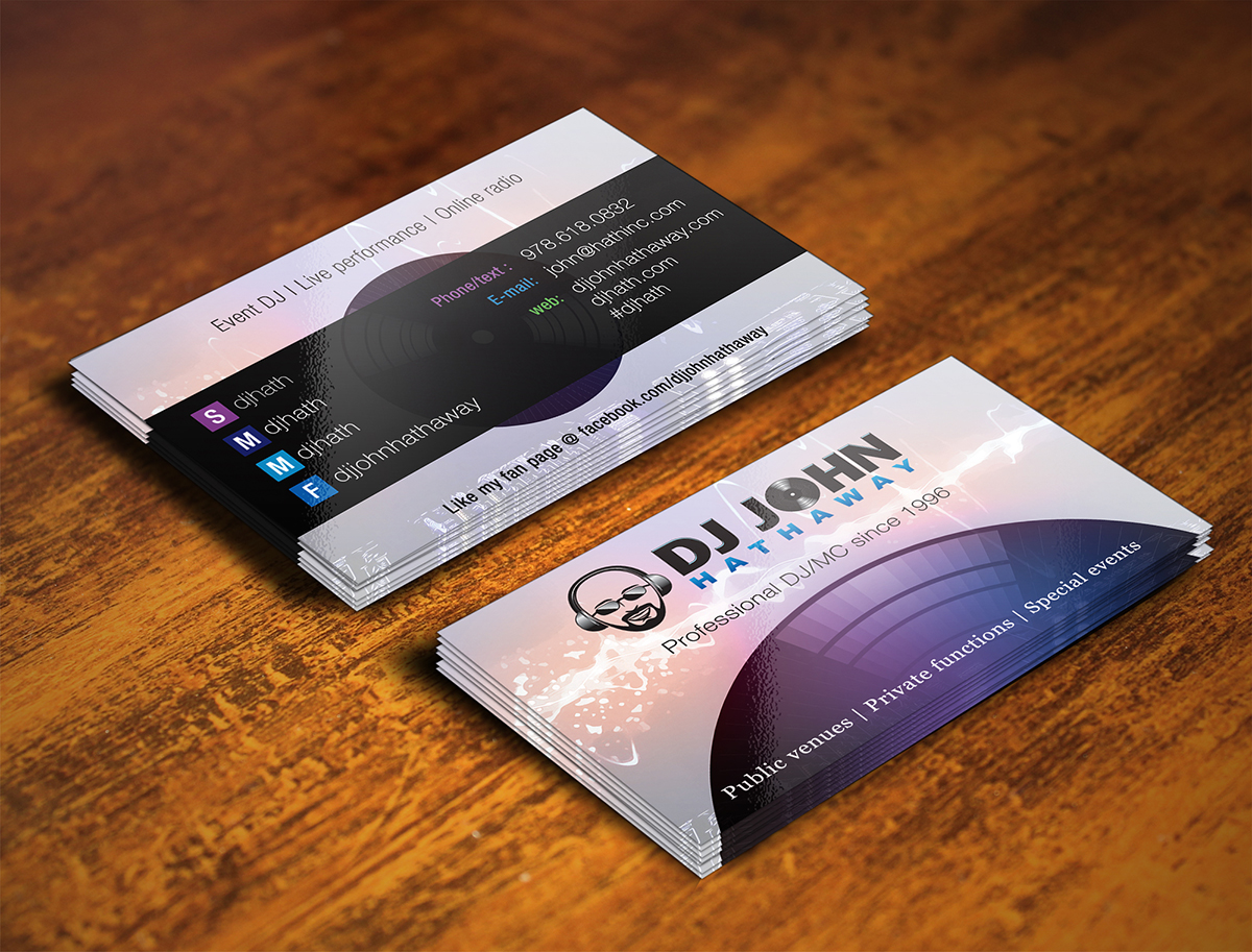 Elegant Spielerisch Business Visitenkarten Design Für A