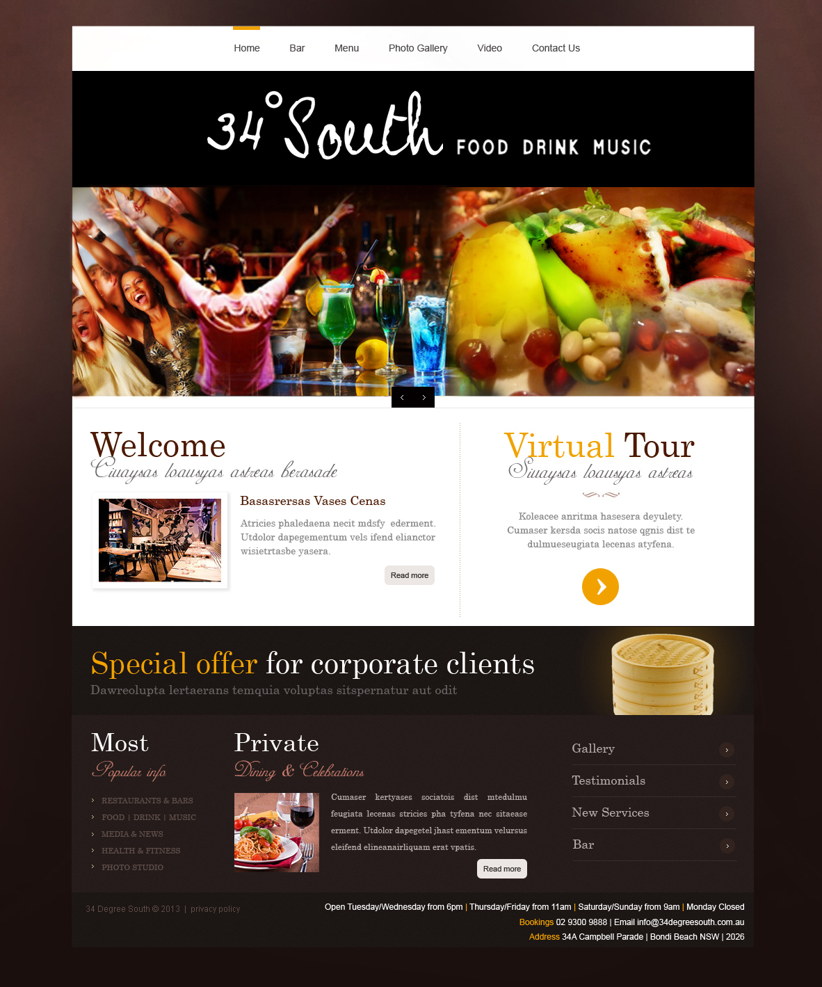 Restaurant web design for a company by jasmine