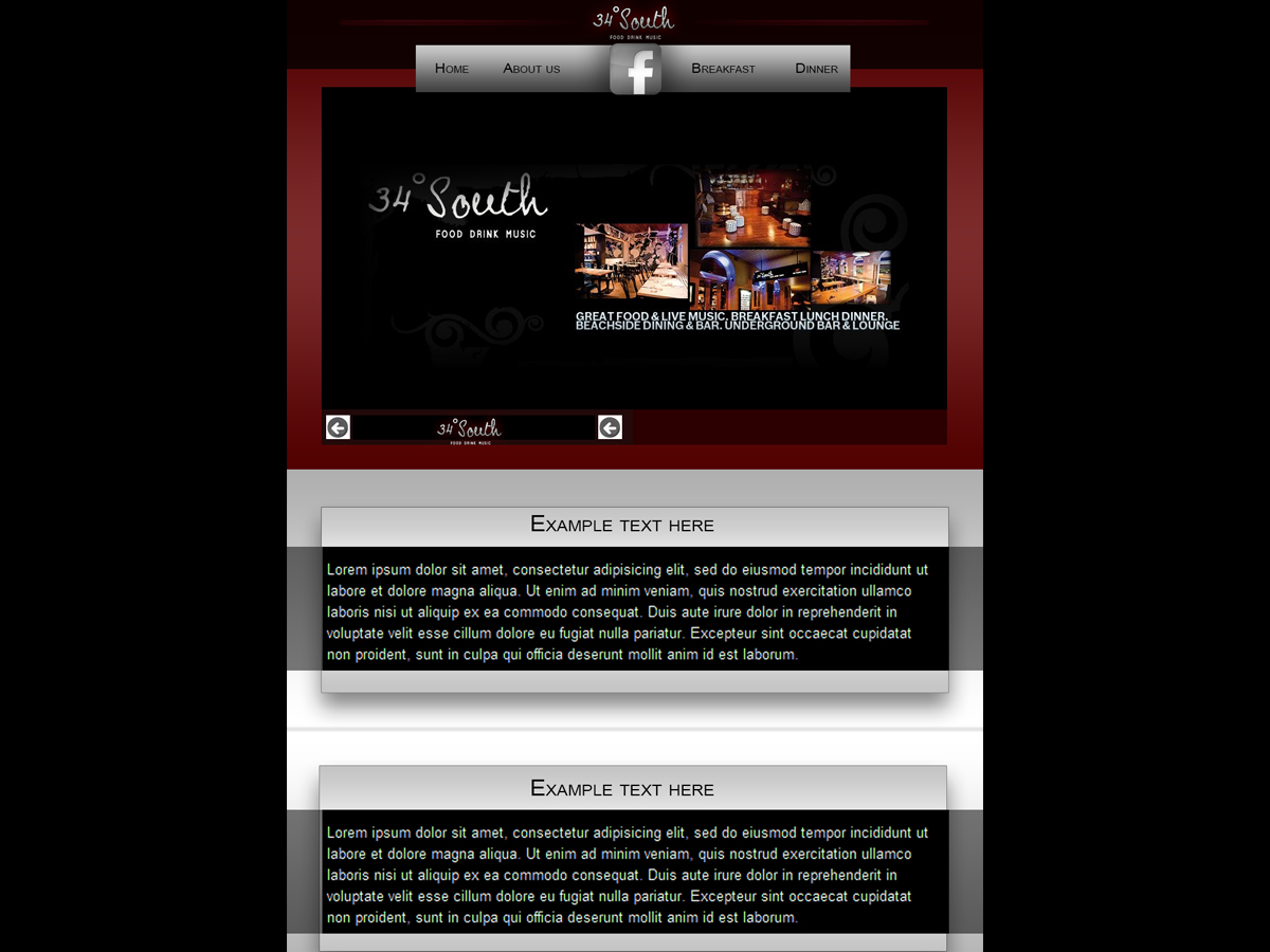 Restaurant web design for a company by zlkidda