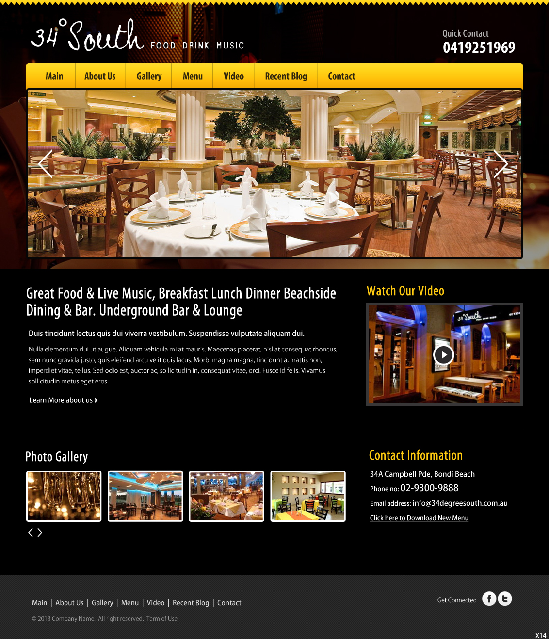Restaurant web design for a company by pb