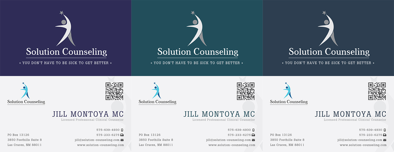 Modern Upmarket Business Card Design for Solution Counseling by