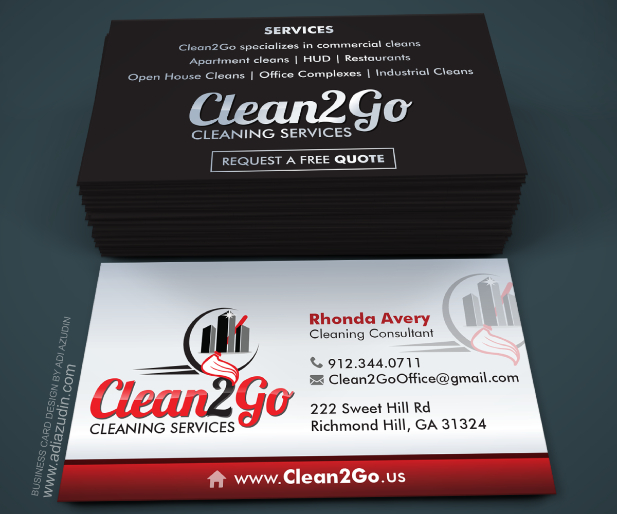 112 elegant business card designs cleaning service business card business card design by adiazudin for this project design 7091660 colourmoves