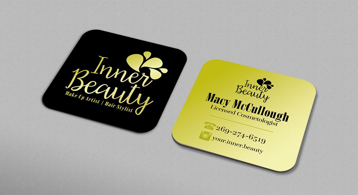 Feminine, Upmarket, Hair And Beauty Business Card Design for custom ...