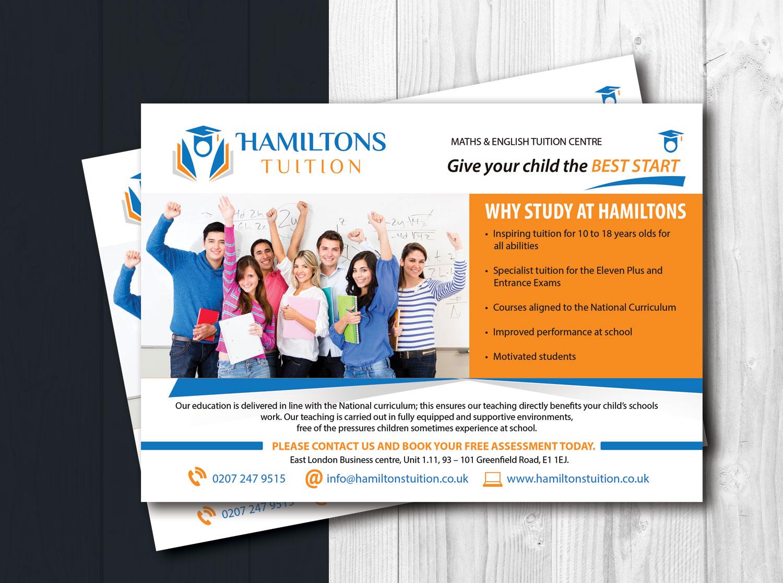 bold professional business flyer design for hamiltons tuition ltd in united kingdom design 7103104