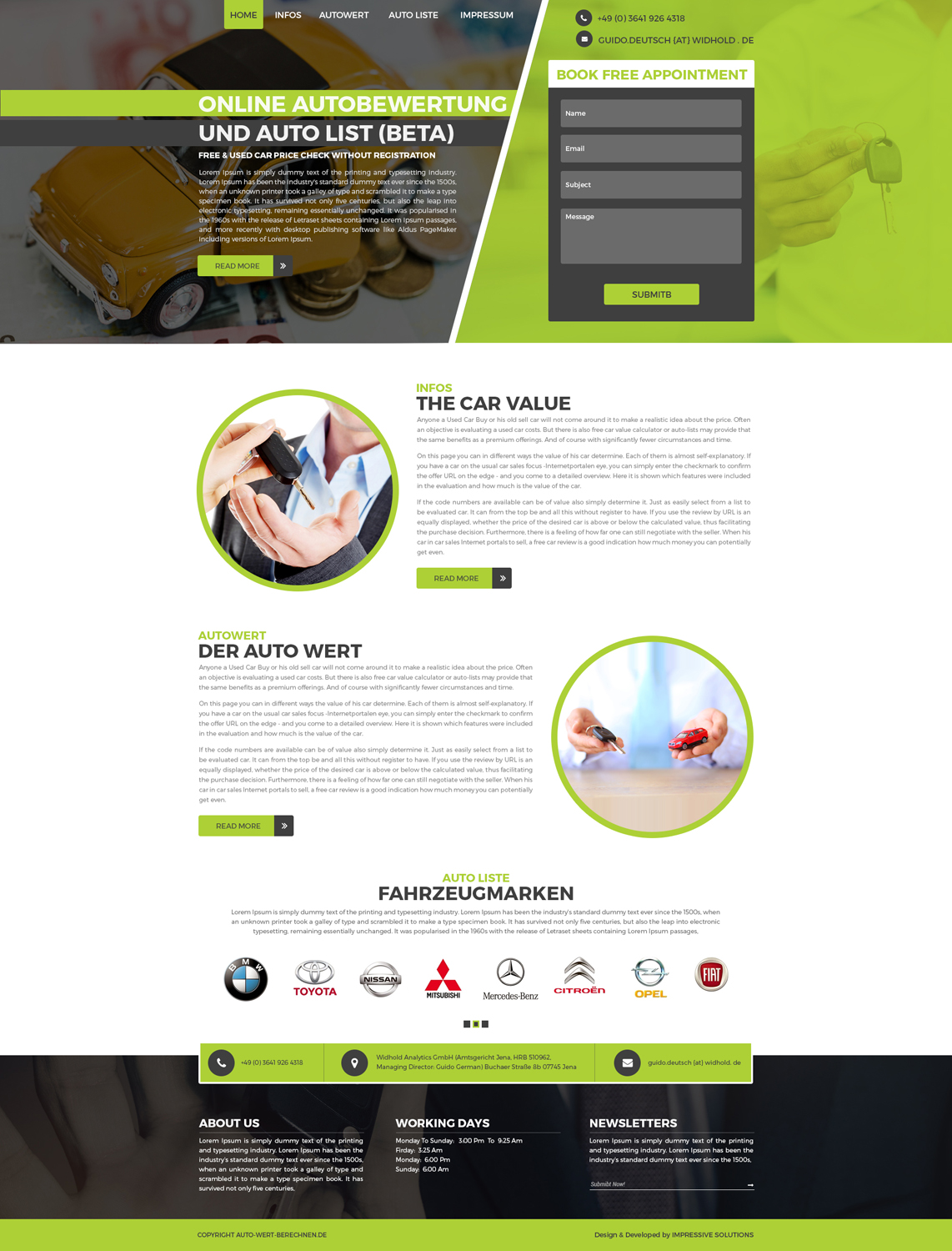 Professional, Serious, Car Dealer Web Design for a Company by Black ...