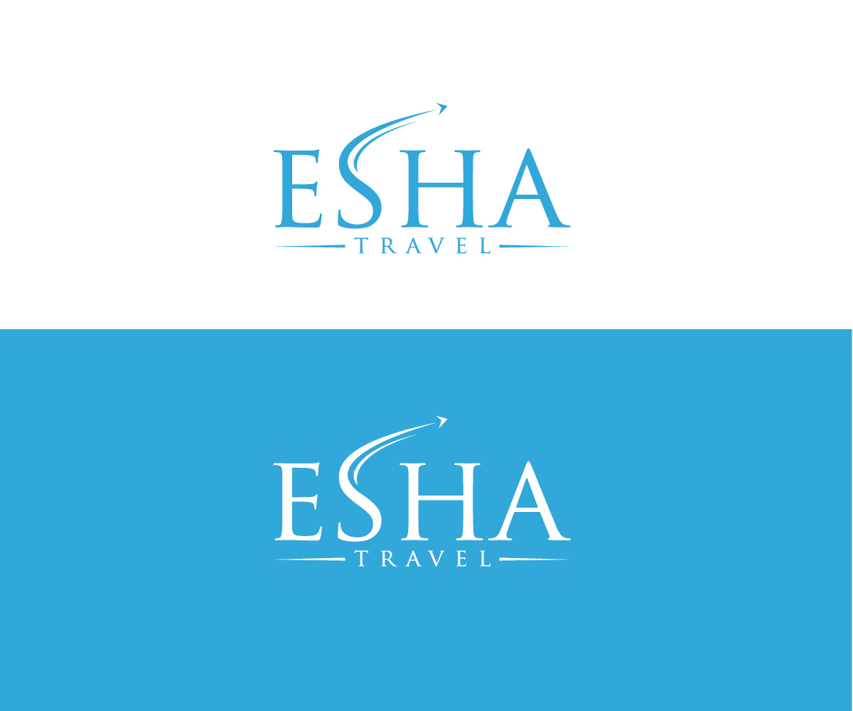 Modern masculine travel logo design for esha travel by for Logo creation wizard