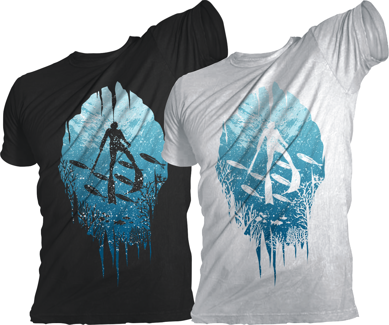 Free t-shirt design - T Shirt Design By Jhep For Design Shirt And Free Diving And Spearfishing Design