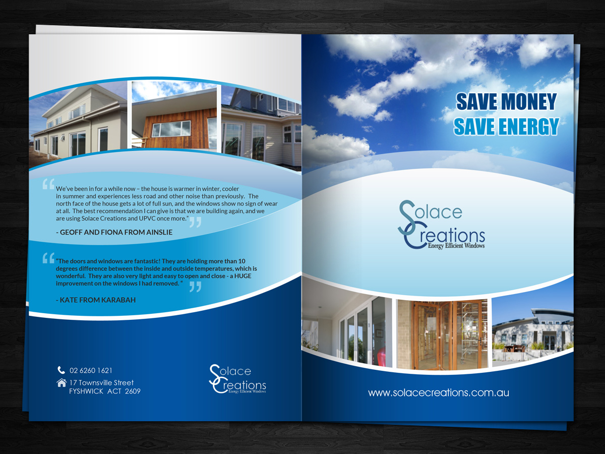 Playful Elegant Construction Flyer Design For Solace Creations Brochure A5 Custom By Hih7 Double Glazing 7101169