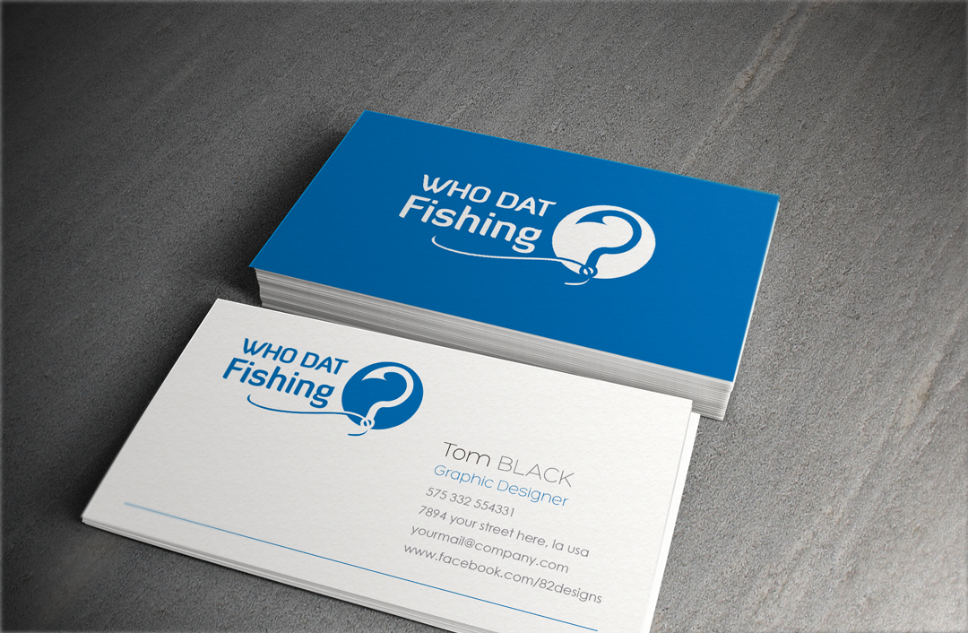 Colorful, Bold, Business Logo Design for Who Dat Fishing ? by ...