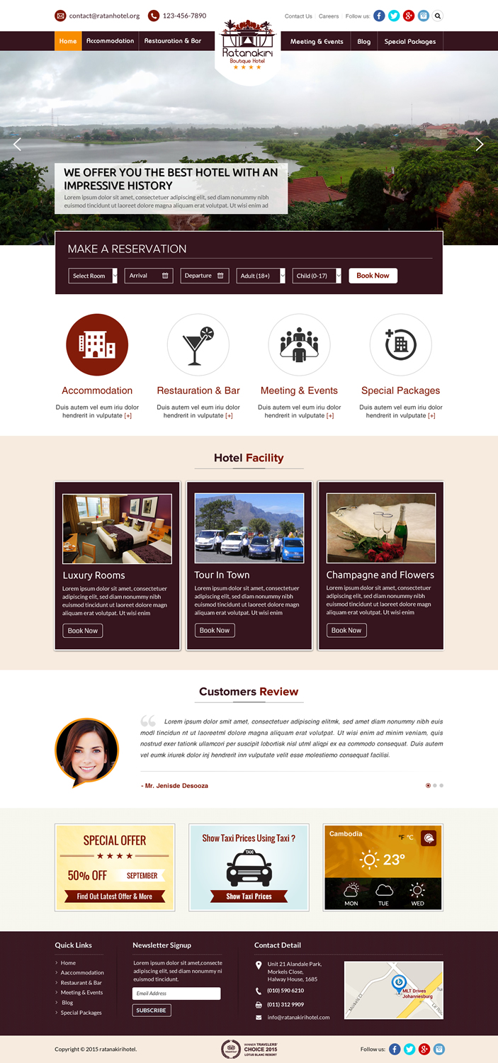 Serious professional hotel web design for a company by for Hotel web design