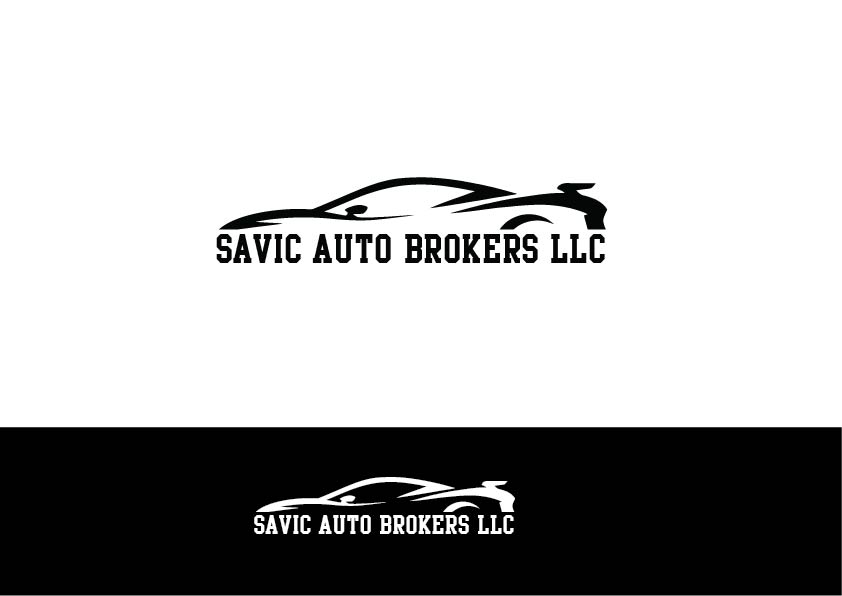 Modern Bold Used Car Logo Design For Savic Auto Brokers Llc By