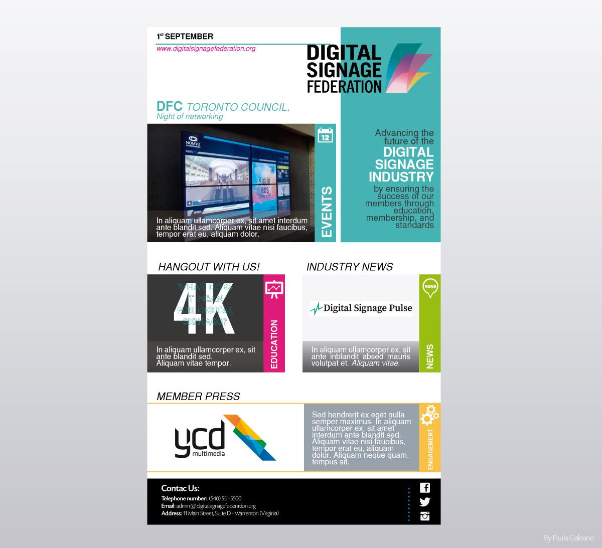 Serious modern newsletter design for brian gorg by for Modern newsletter design