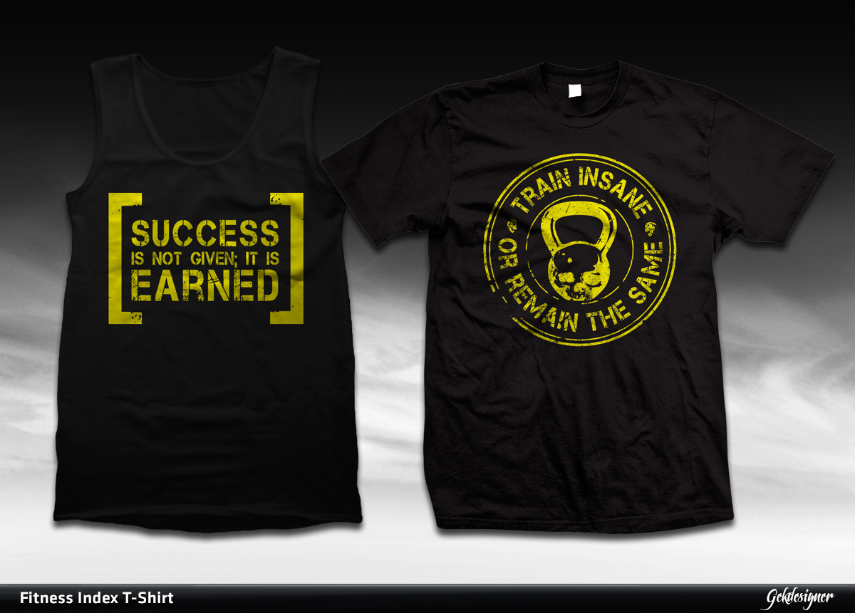 Design t shirt online singapore - T Shirt Design By Gek For Fitness Training Tee Design 1847050