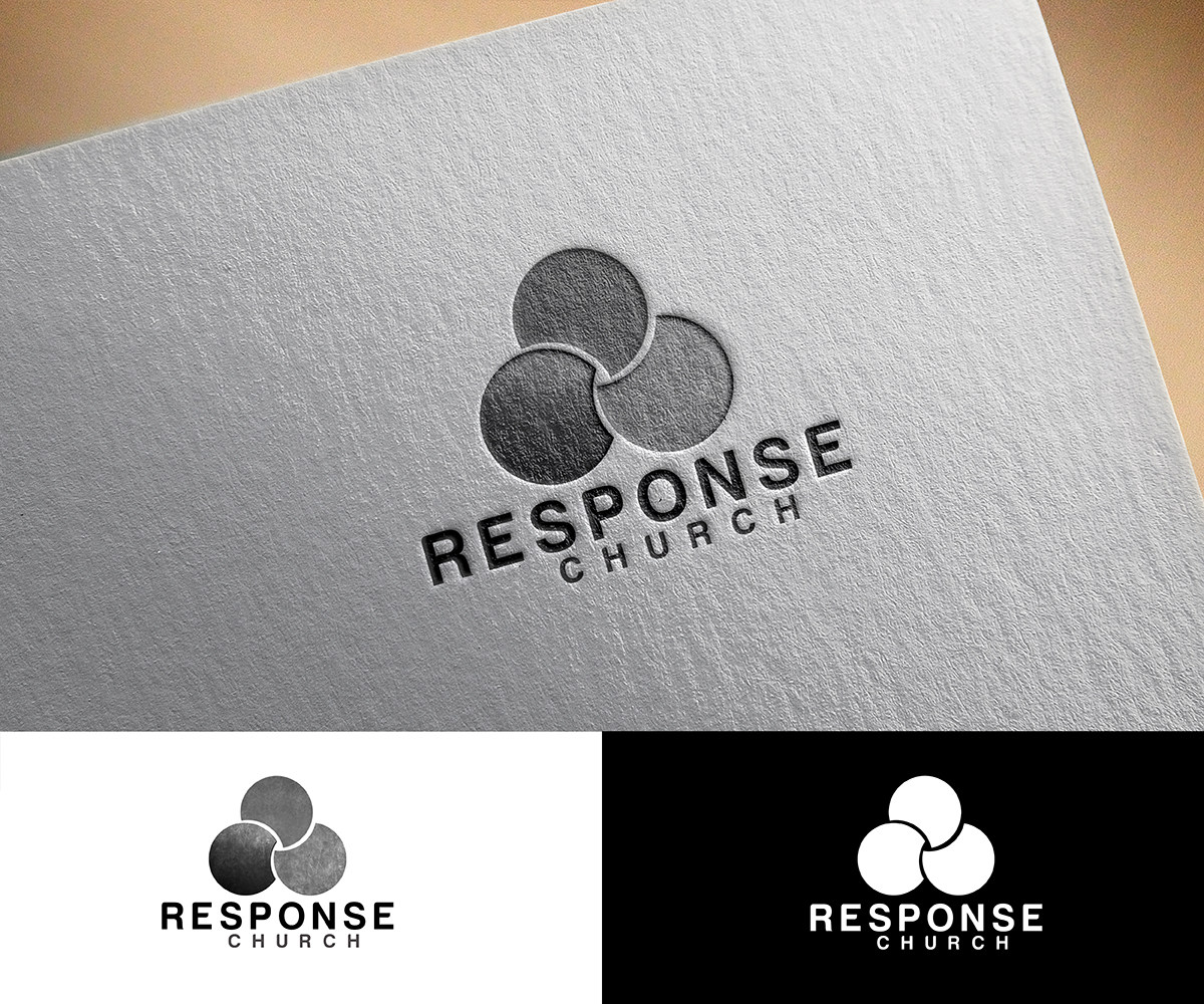 Masculine conservative logo design for response church by logo design by pixelgrapix for a modern abstract and active 3 circle venn pooptronica