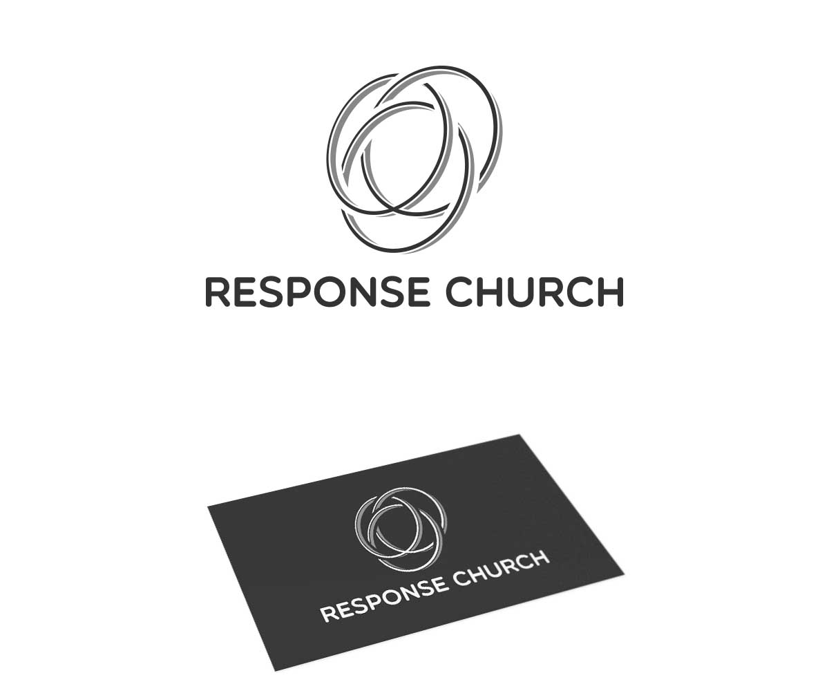 Masculine conservative logo design for response church by dana logo design by dana jelescu for a modern abstract and active 3 circle pooptronica