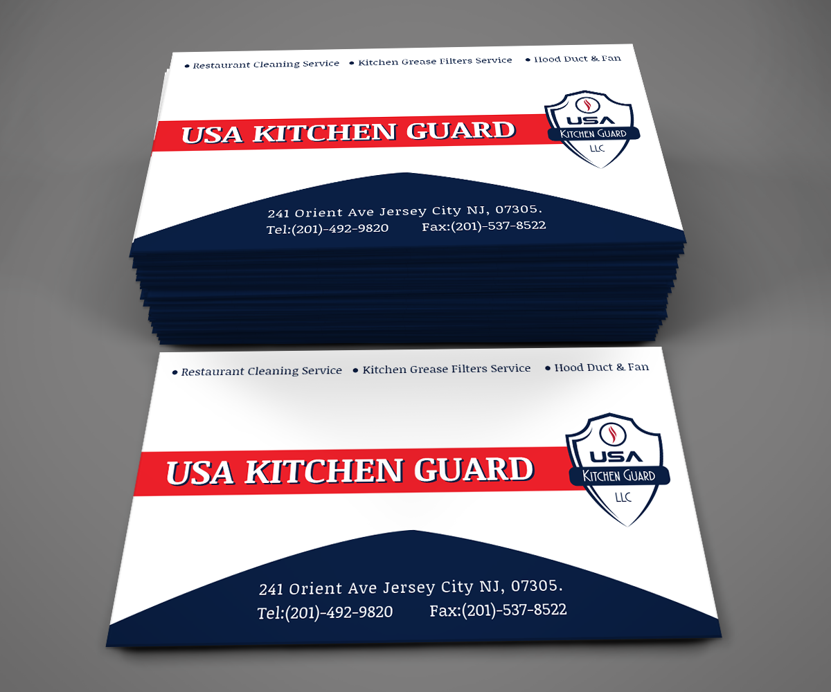 Professional Elegant Business Business Card Design For Usa Kitchen