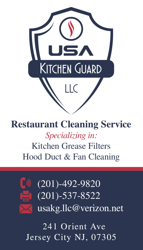 Professional elegant business business card design for usa kitchen business card design by dave vineis for usa kitchen guard llc design 7223028 reheart Images