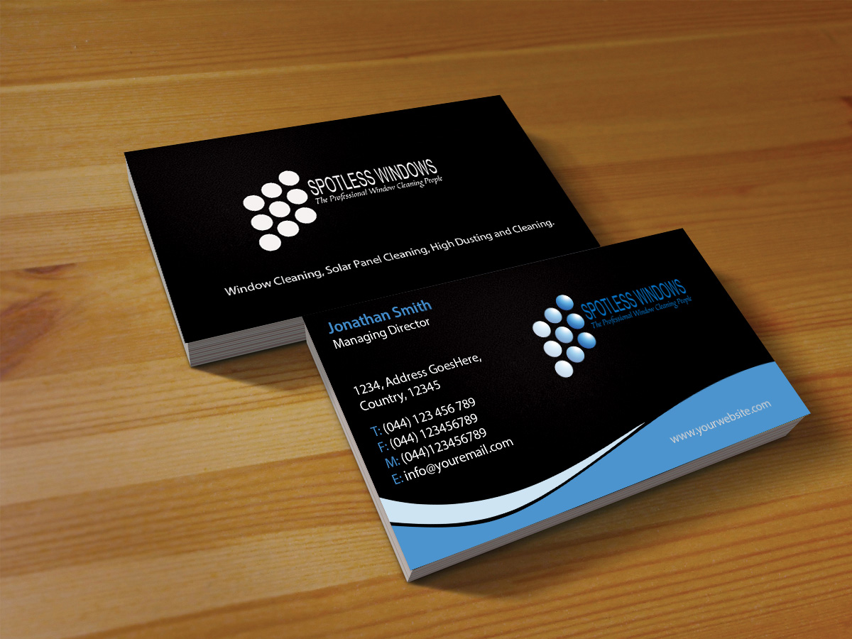 Professional, Bold, Window Cleaning Business Card Design for a ...