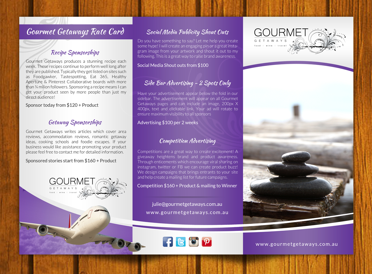 create a travel brochure
