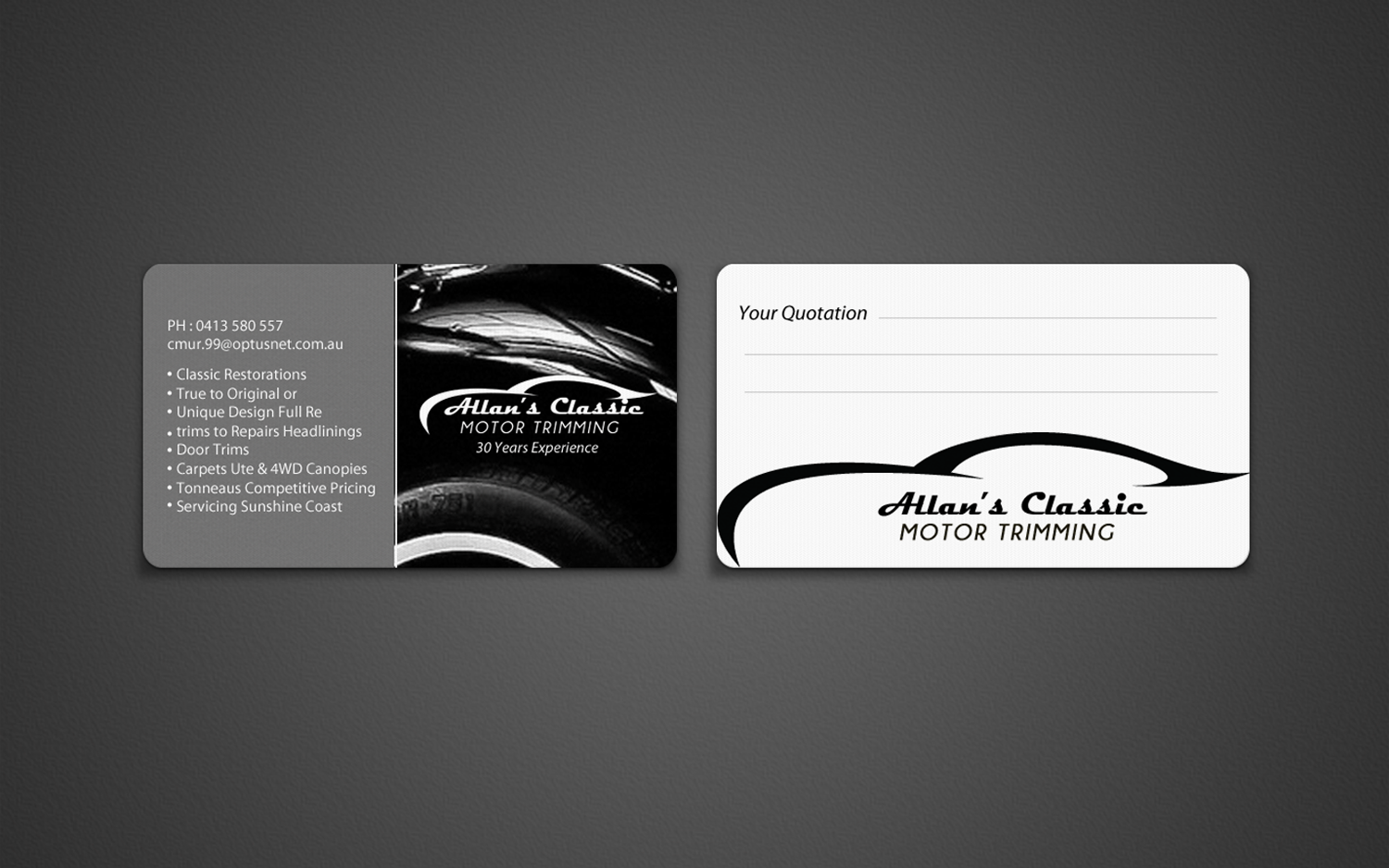 65 bold traditional business card designs for a business in business card design design 7130811 submitted to business card design for classic car magicingreecefo Images
