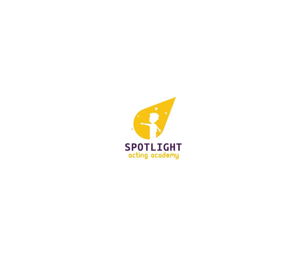 55 bold modern logo designs for spotlight acting academy a for Spotlight design
