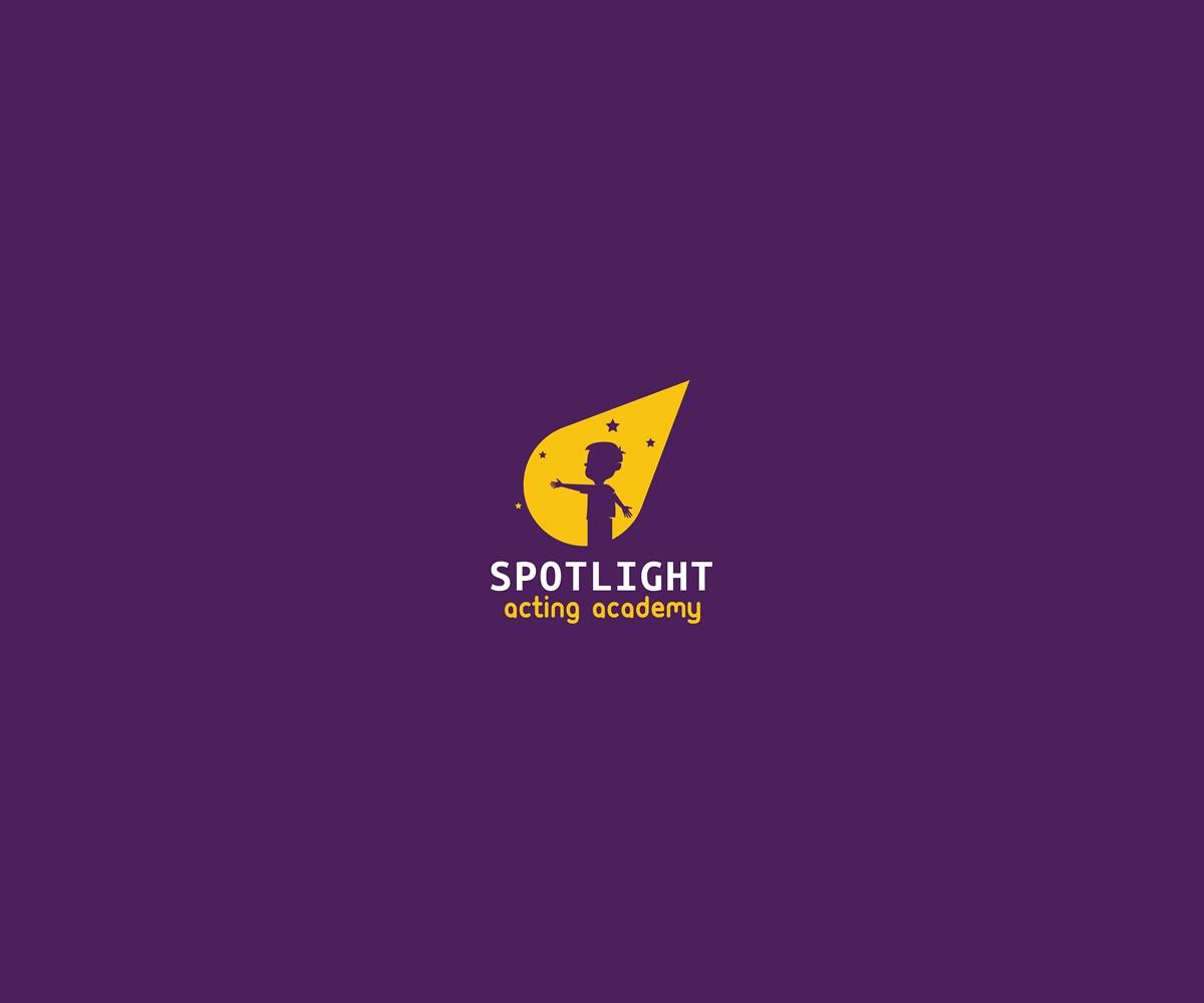 Bold modern school logo design for spotlight acting for Spotlight design
