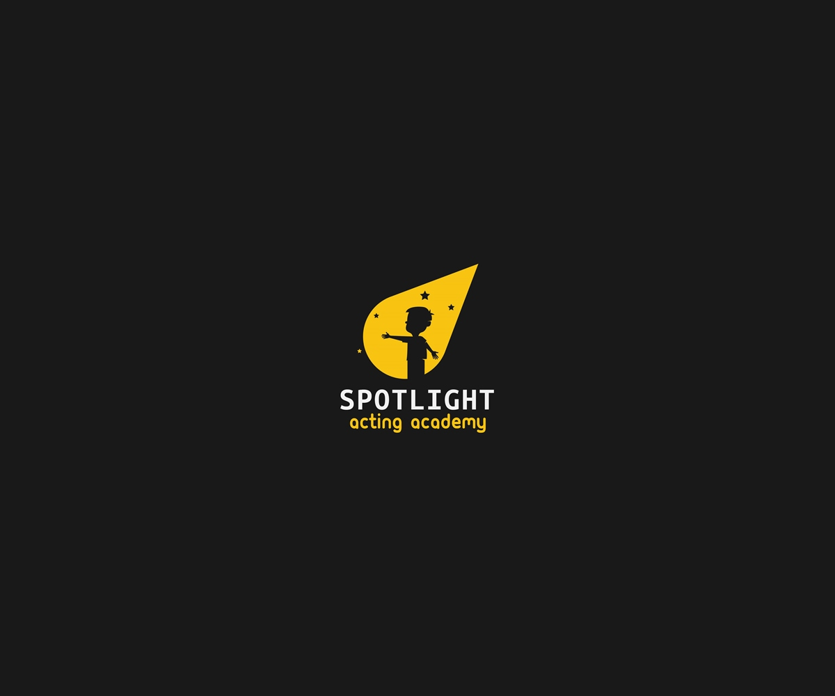 bold modern logo design for spotlight acting academy by