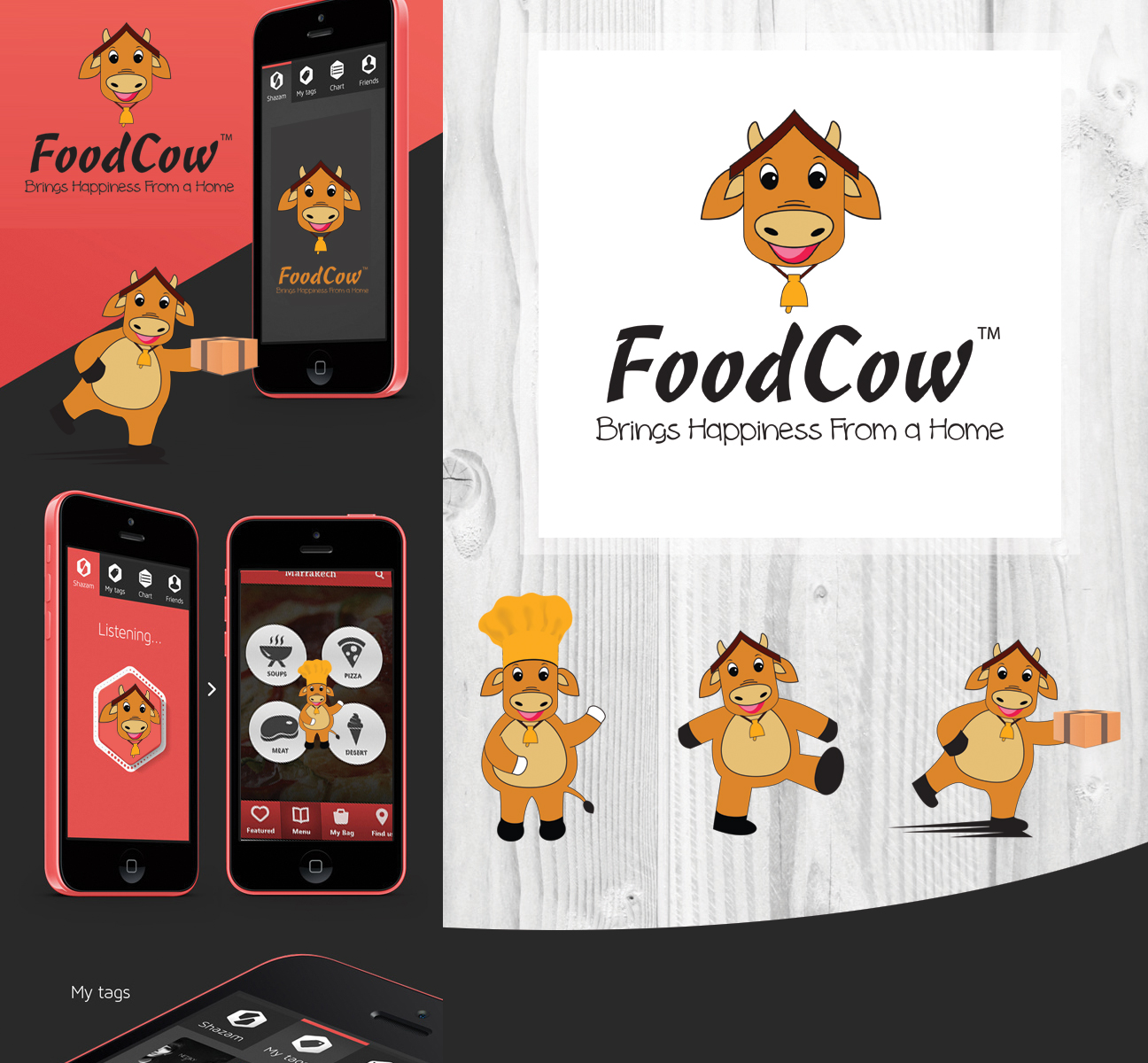 Economical, Traditional, Business Logo Design for FoodCow™ by uk ...