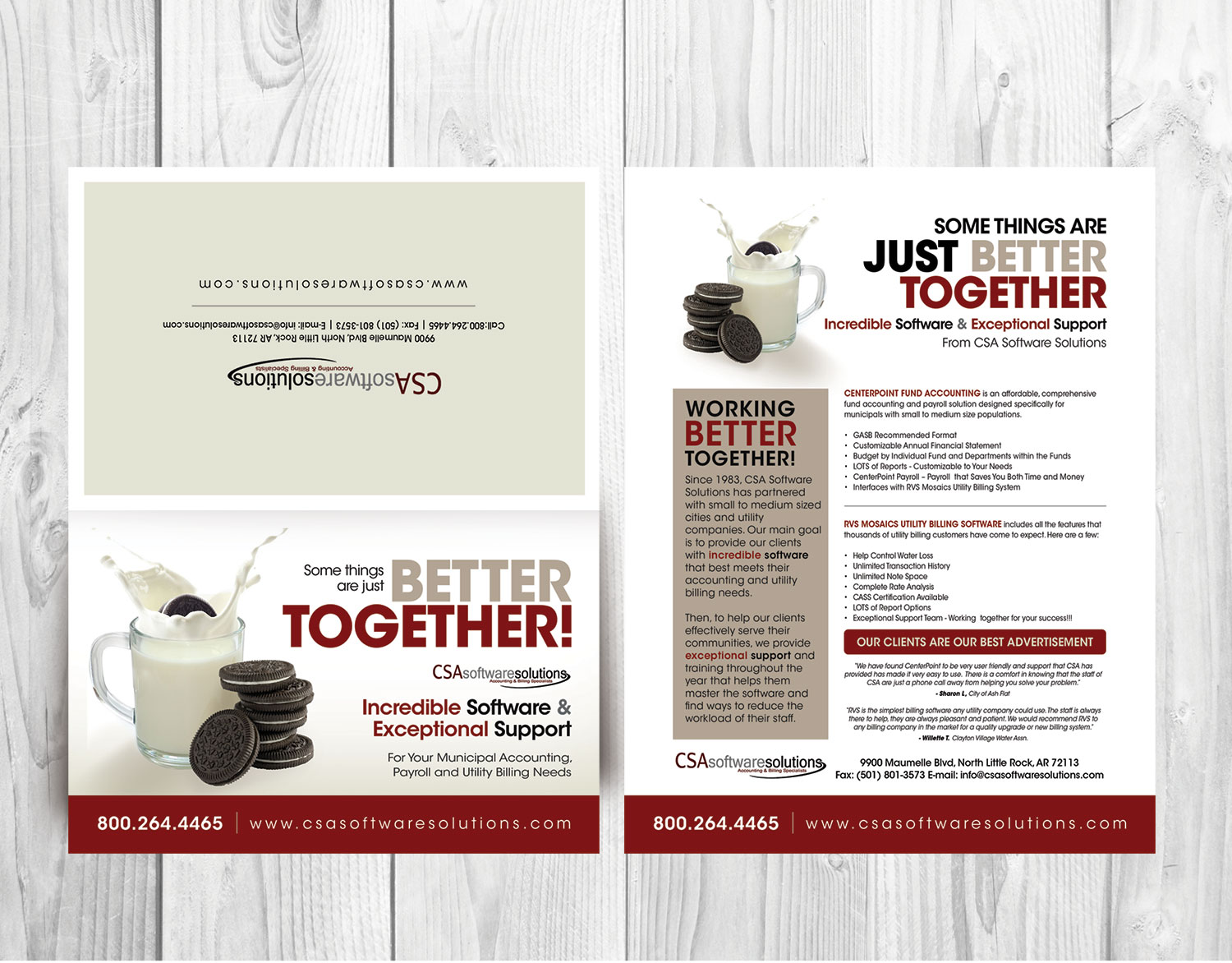 Traditional, Bold, Business Software Postcard Design for CSA ...