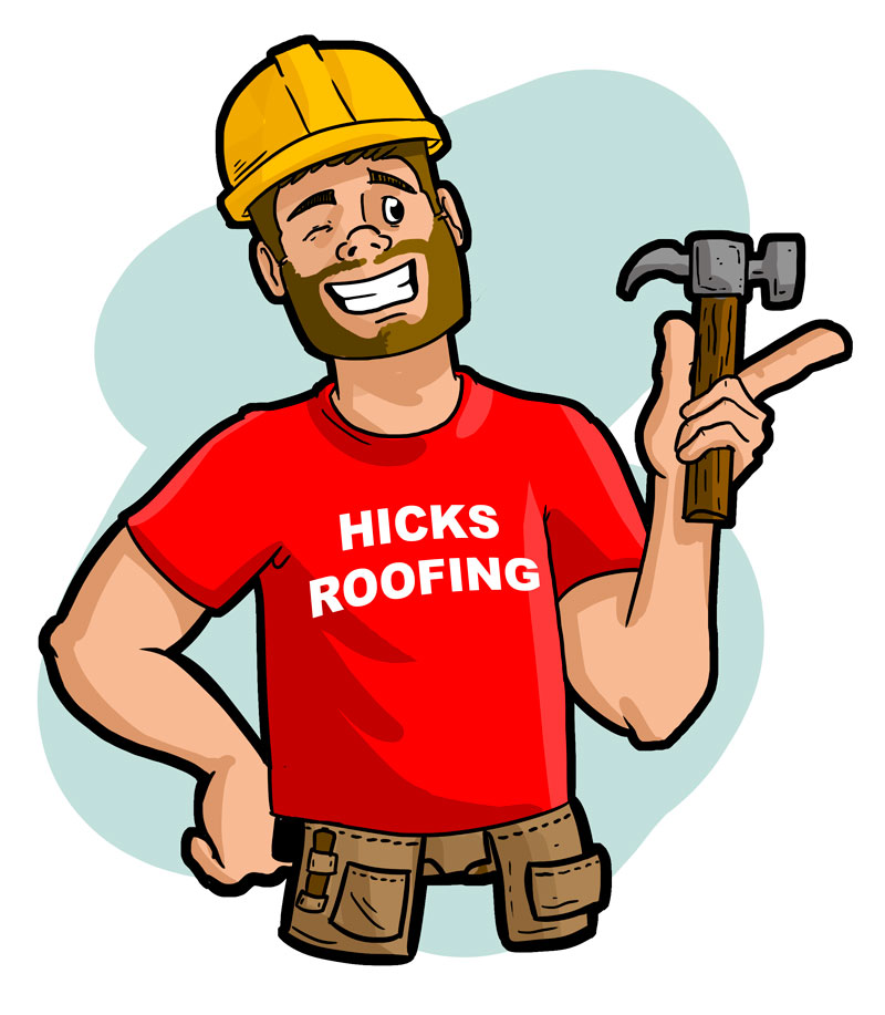 Playful Personable Roofing Mascot Design For Hicks