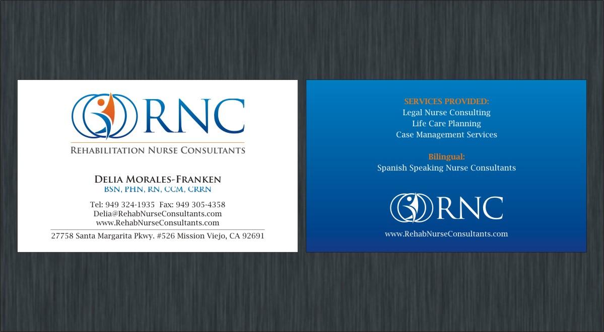 Professional, Upmarket Business Card Design for Delia Franken by ...