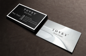 37 bold serious real estate agent business card designs for a real business card design design 7138873 submitted to tovey real estate business cards reheart Gallery