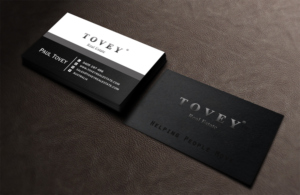 tovey real estate business cards, fresh look, modern, clean, | 37