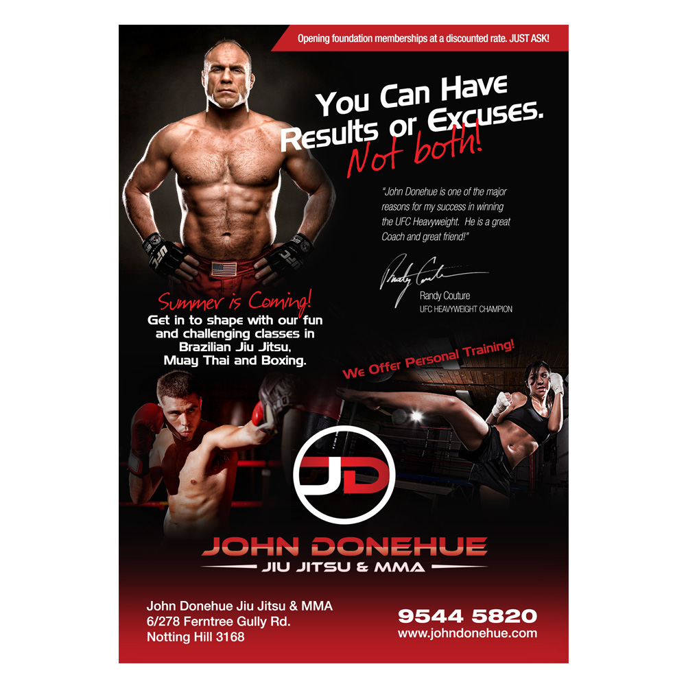Fitness Flyer   Fett Modern Fitness Flyer Design Fur John Donehue Jiu Jitsu Mma