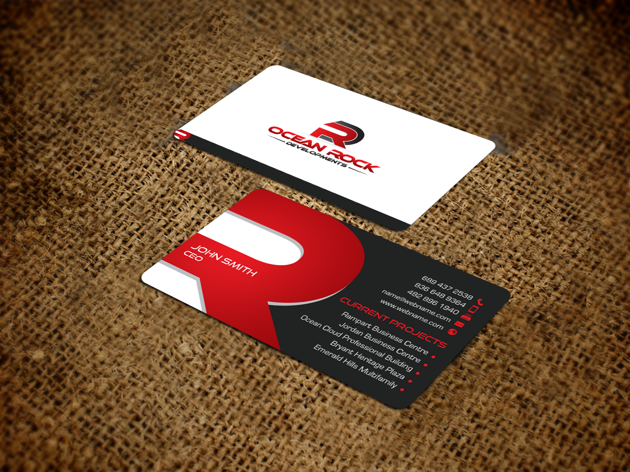 Bold professional real estate development business card design for bold professional real estate development business card design for a company in united states design 7185414 reheart Image collections