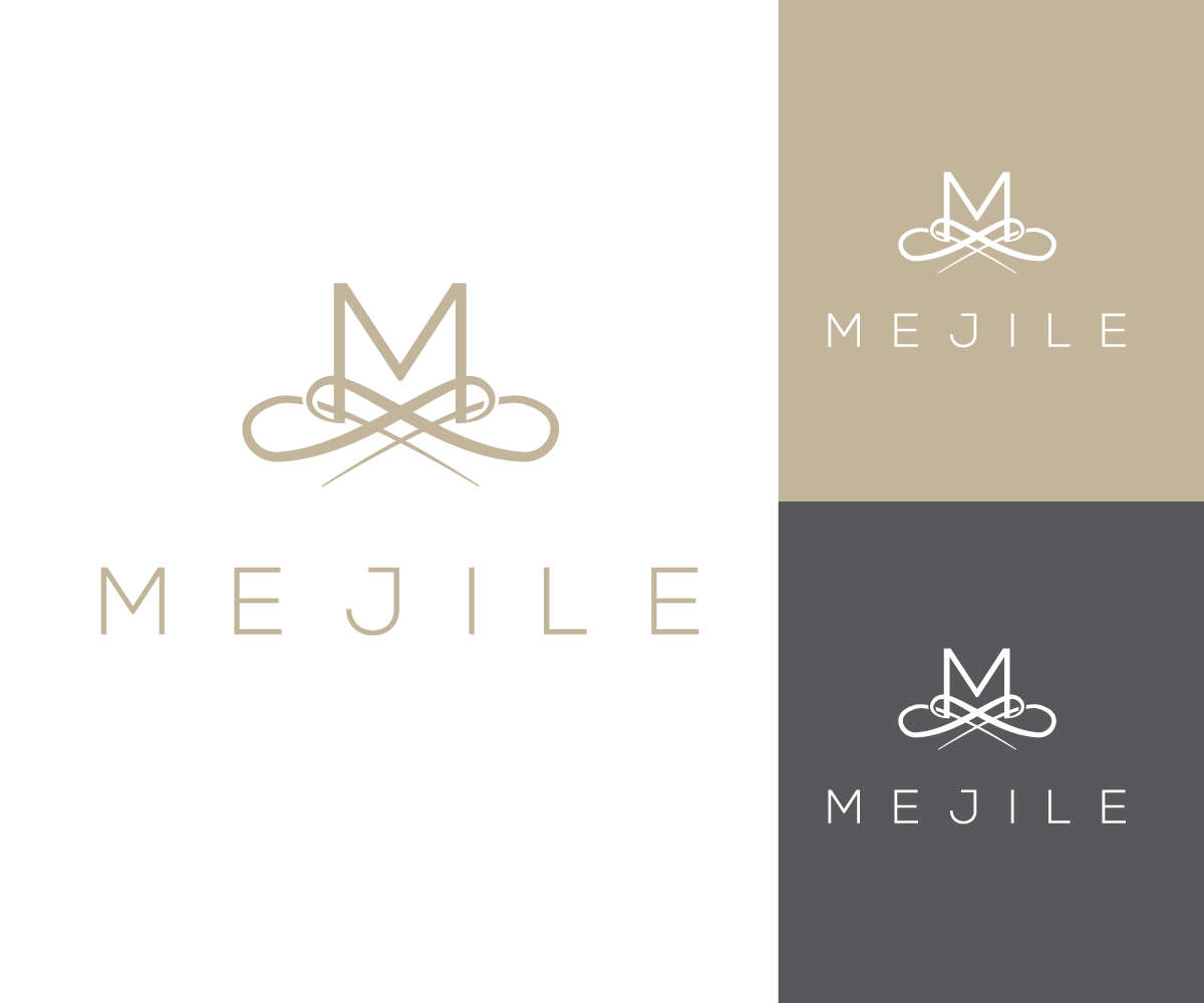elegant modern logo design for mejile by strezout7z